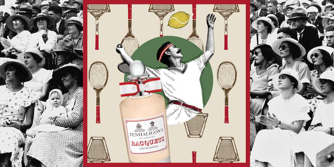Inspired by the tennis court, Racquets is Penhaligon's returning scent