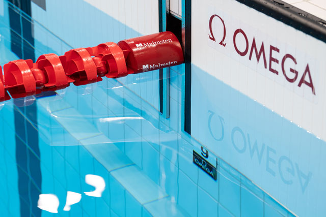Omega swimming touchpad