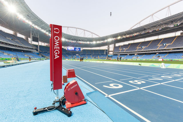 Omega photocell technology finish line