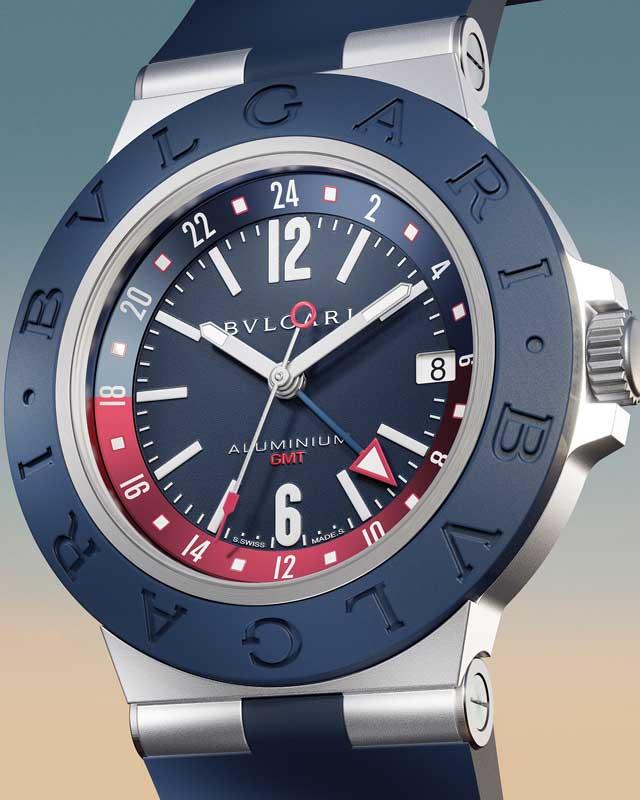 Bulgari Aluminium GMT close up